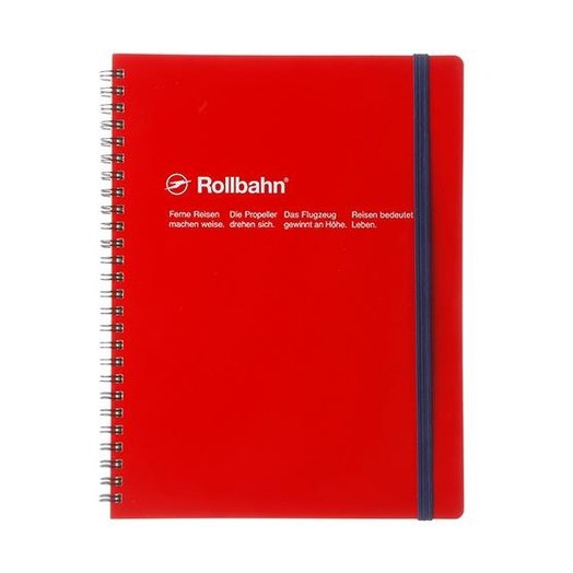 """Delfonics Rollbahn Spiral Notebook in Red, Large (5.5"""" X 7"""")"""