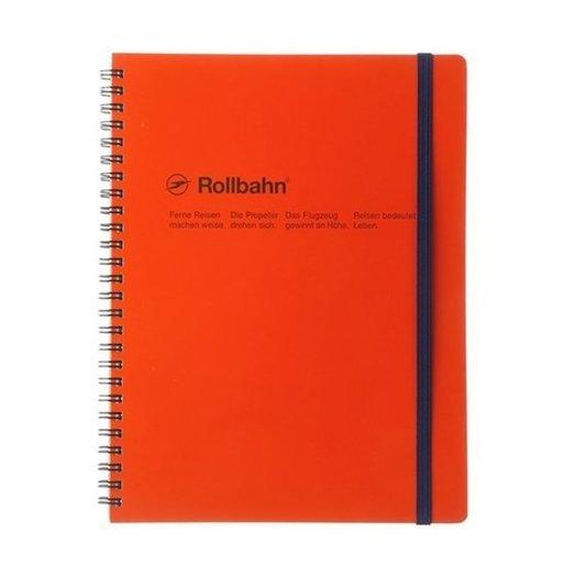 "Delfonics Rollbahn Spiral Notebook in Orange, Large (5.5"" X 7"")"