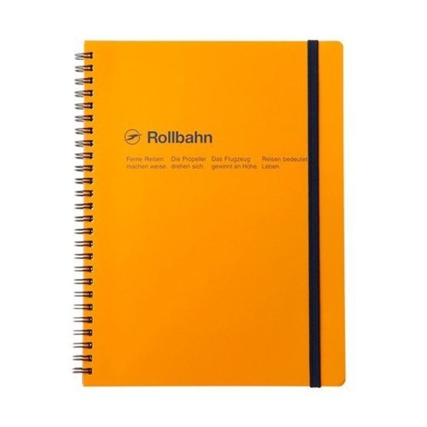 "Delfonics Rollbahn Spiral Notebook in Yellow, Large (5.5"" X 7"")"