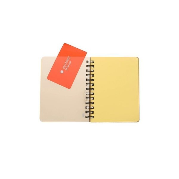 """Delfonics Rollbahn Spiral Notebook in Yellow, Large (5.5"""" X 7"""")"""