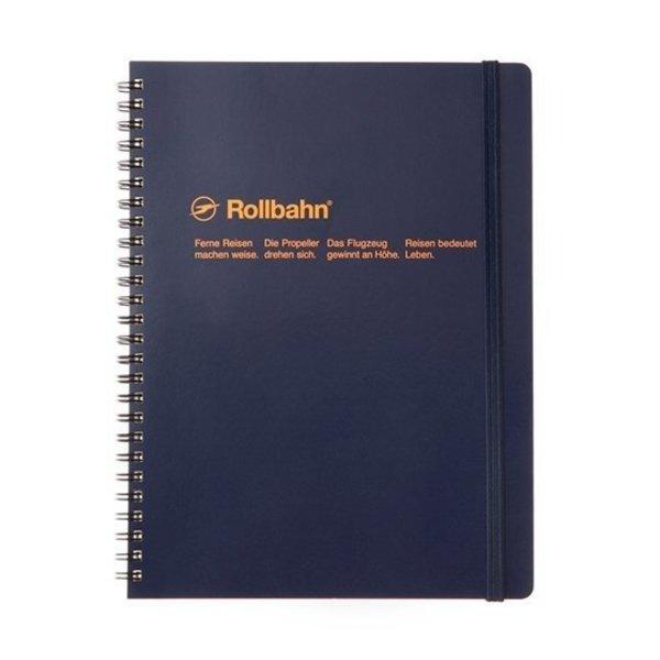 "Delfonics Rollbahn Spiral Notebook in Dark Blue, Large (5.5"" X 7"")"