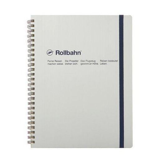 """Delfonics Rollbahn Spiral Notebook in Silver, Large (5.5"""" X 7"""")"""