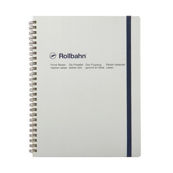 "Delfonics Rollbahn Spiral Notebook in Silver, Large (5.5"" X 7"")"