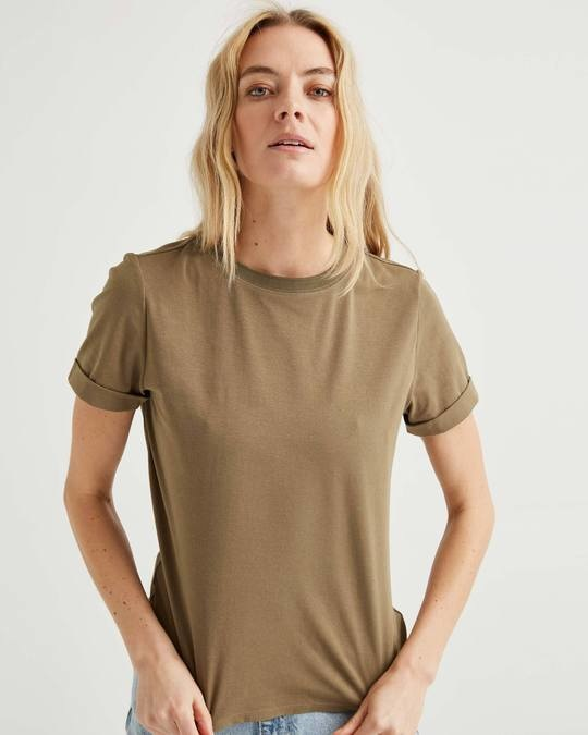 Richer Poorer Fitted Tee Cub