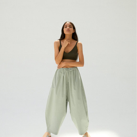 Monica Cordera Maxi Pants, Silver Blue, ONE SIZE FITS ALL