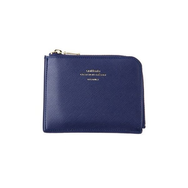 Delfonics Quitterie Half-Zip Case (Wallet) in Dark Blue