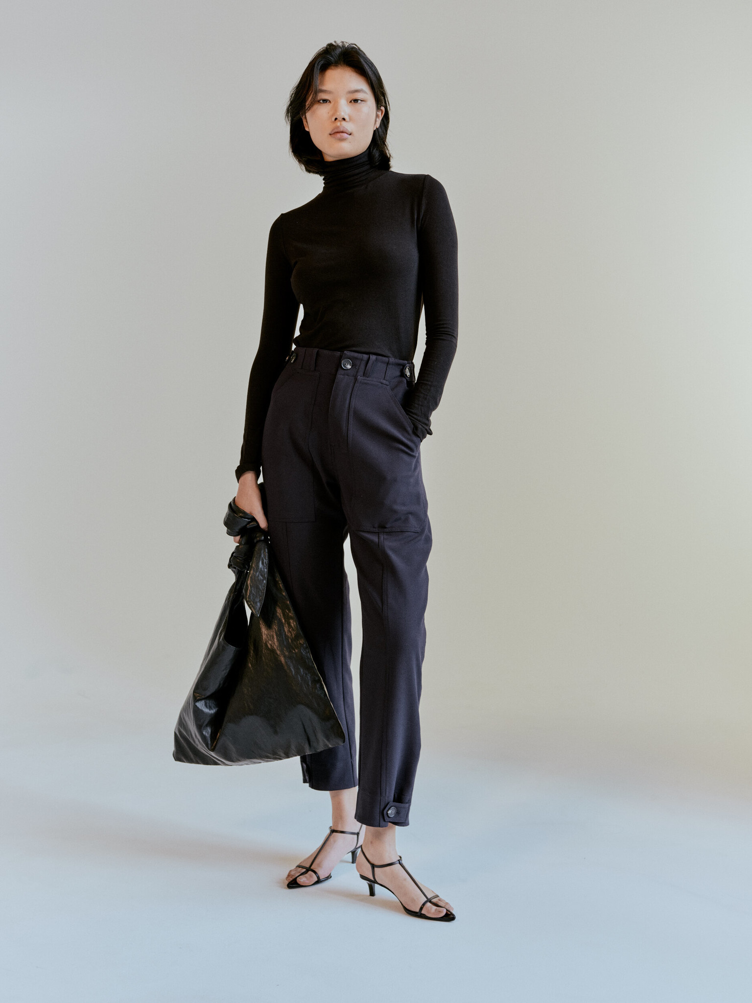 Mijeong Park Workwear Trousers, Navy