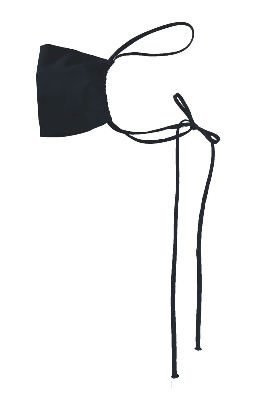 KES NYC Black Silk Mask Set x 4 Masks
