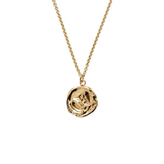 Lady Grey Mini Palette Necklace, Gold Plated