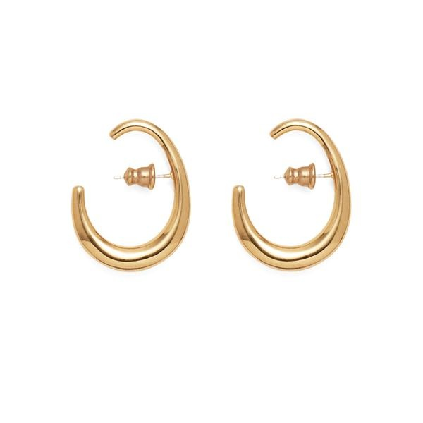 Lady Grey Lair Earrings, Gold Plated