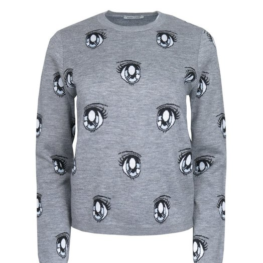 Sandy Liang Uchi Sweater, Grey Galaxy