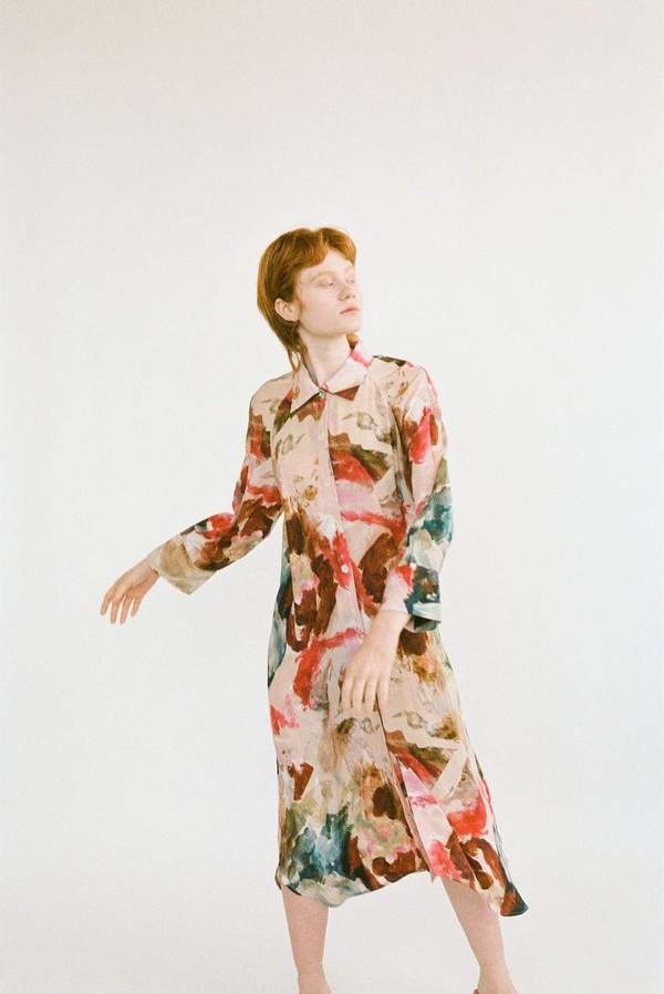 Wray Shirt Dress, Painted Print