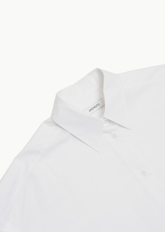 Amomento Boxi Shirt Dress, White