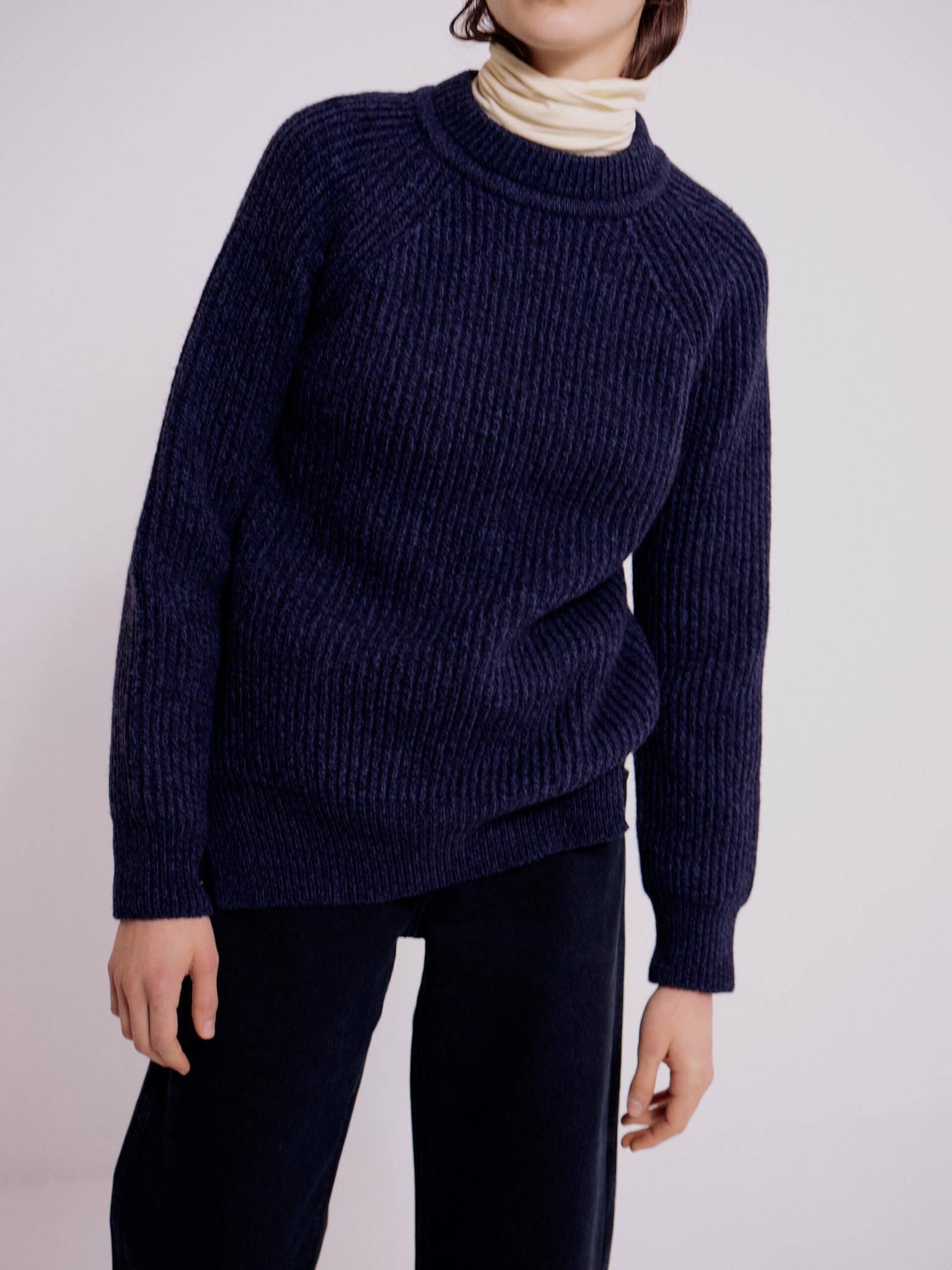 Mijeong Park Grandpa Sweater, Navy