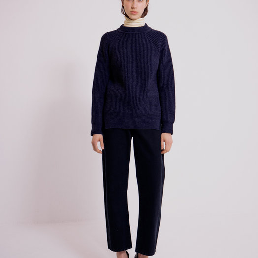 Mijeong Park Grandpa Sweater, Navy