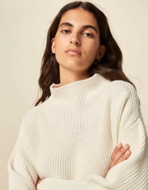 Sessun Jammy Sweater, Fleur de Sel