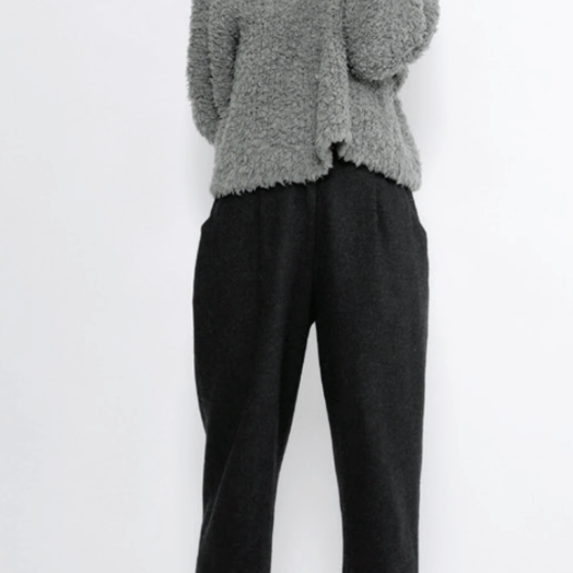 7115 by SZEKI Merino Curly Turtleneck, Grey