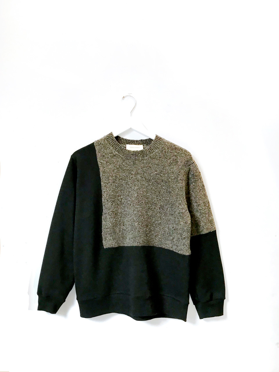 Correll Correll Ecke Knit Sweater, Grey and Black