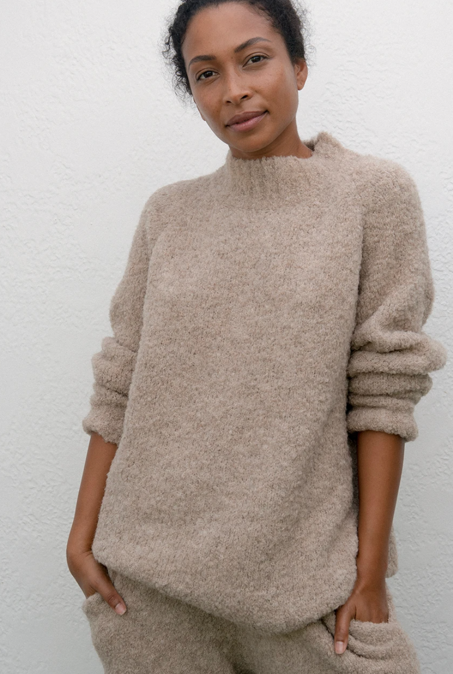 Wol Hide Lounge Pullover, Sand