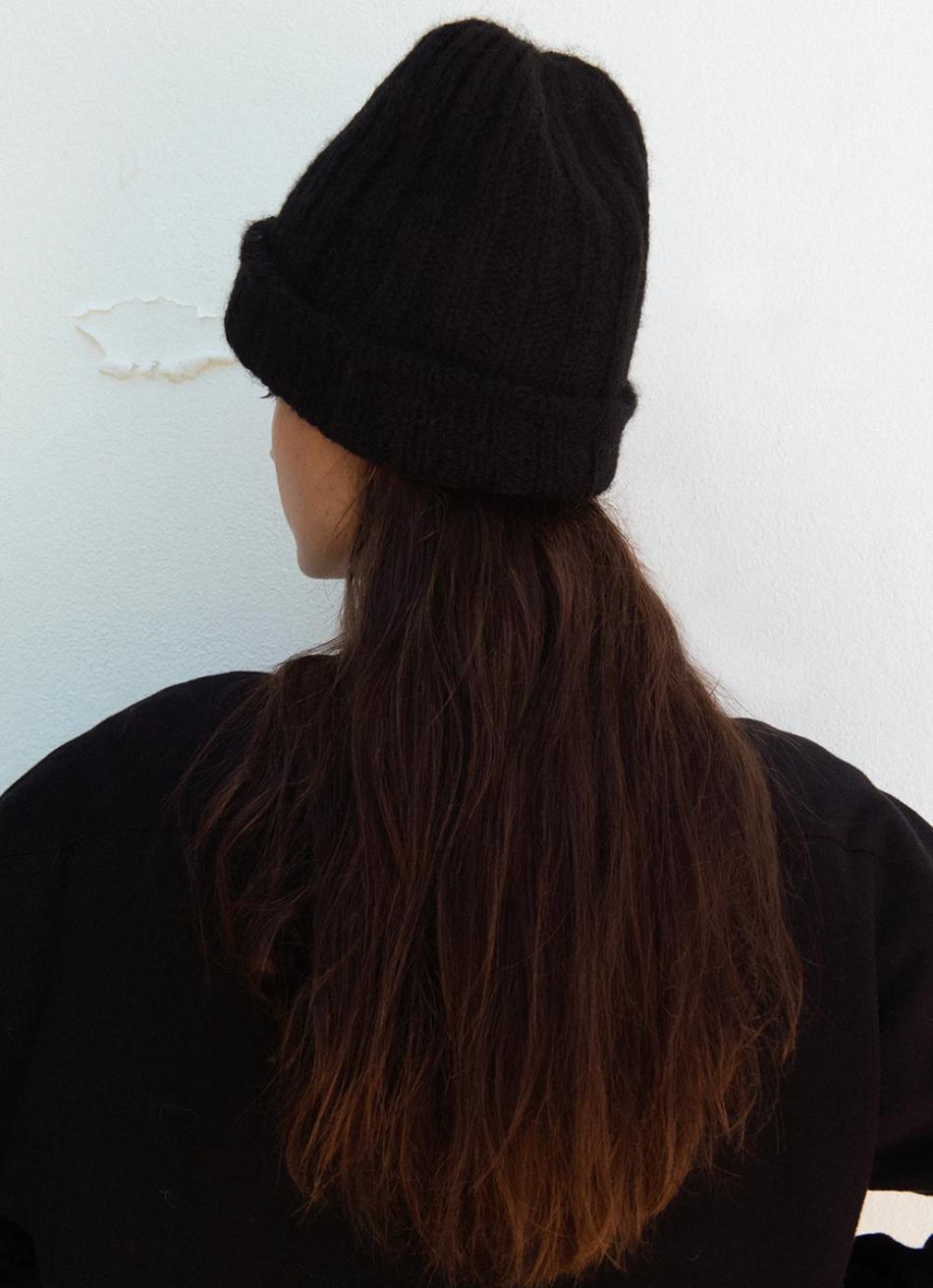 Wol Hide Rib Hat, Black
