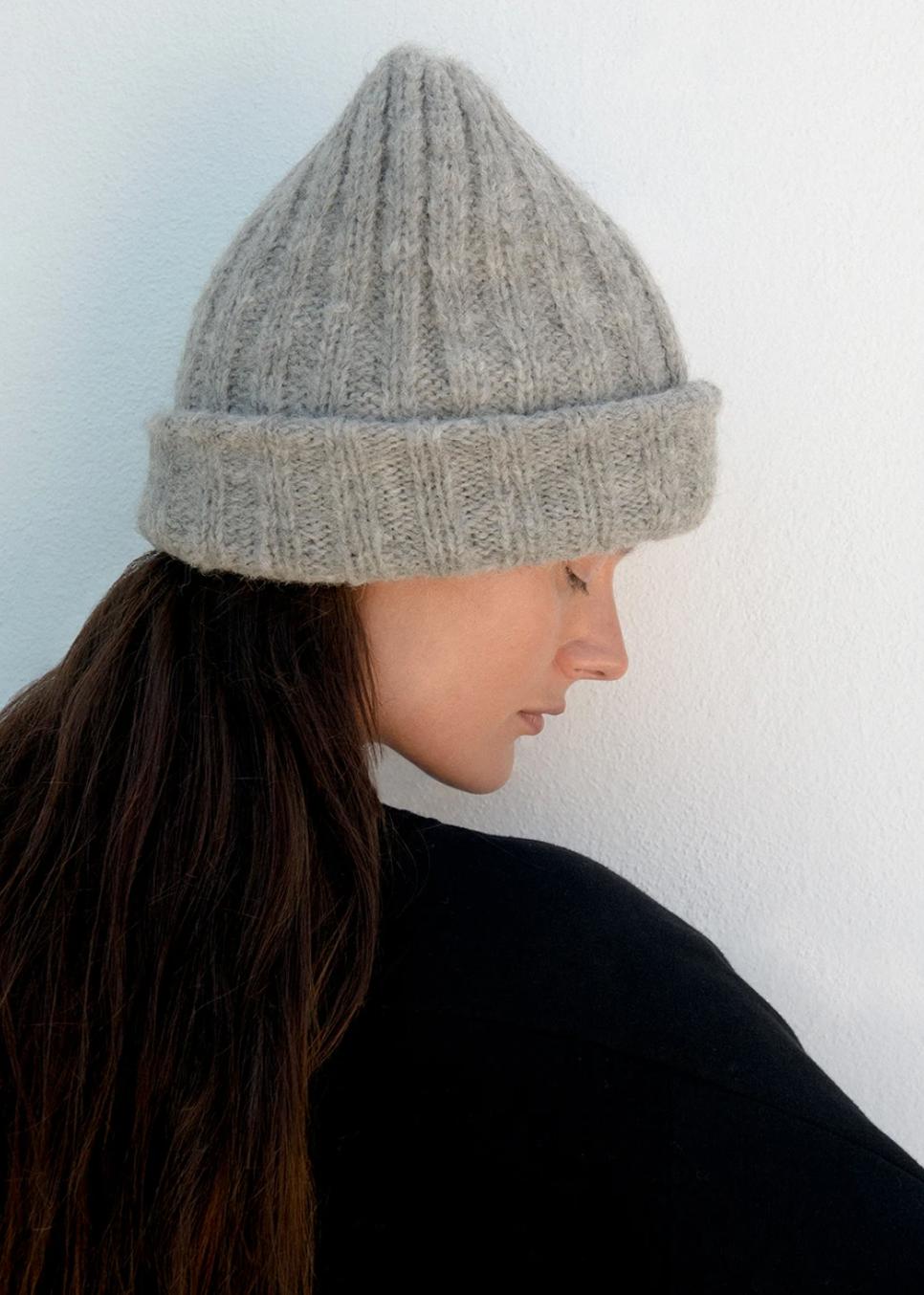 Wol Hide Rib Hat, Heather