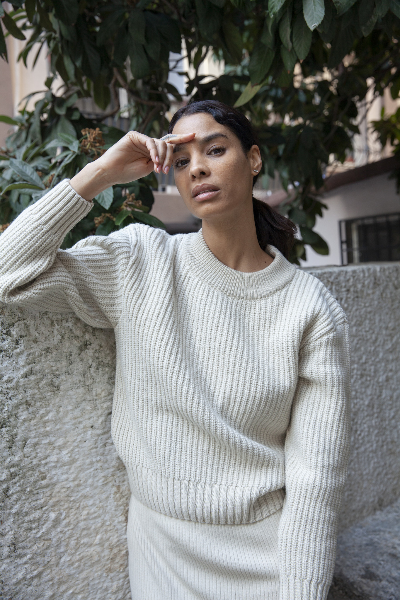 By Signe Coco Knit Sweater, Ecru