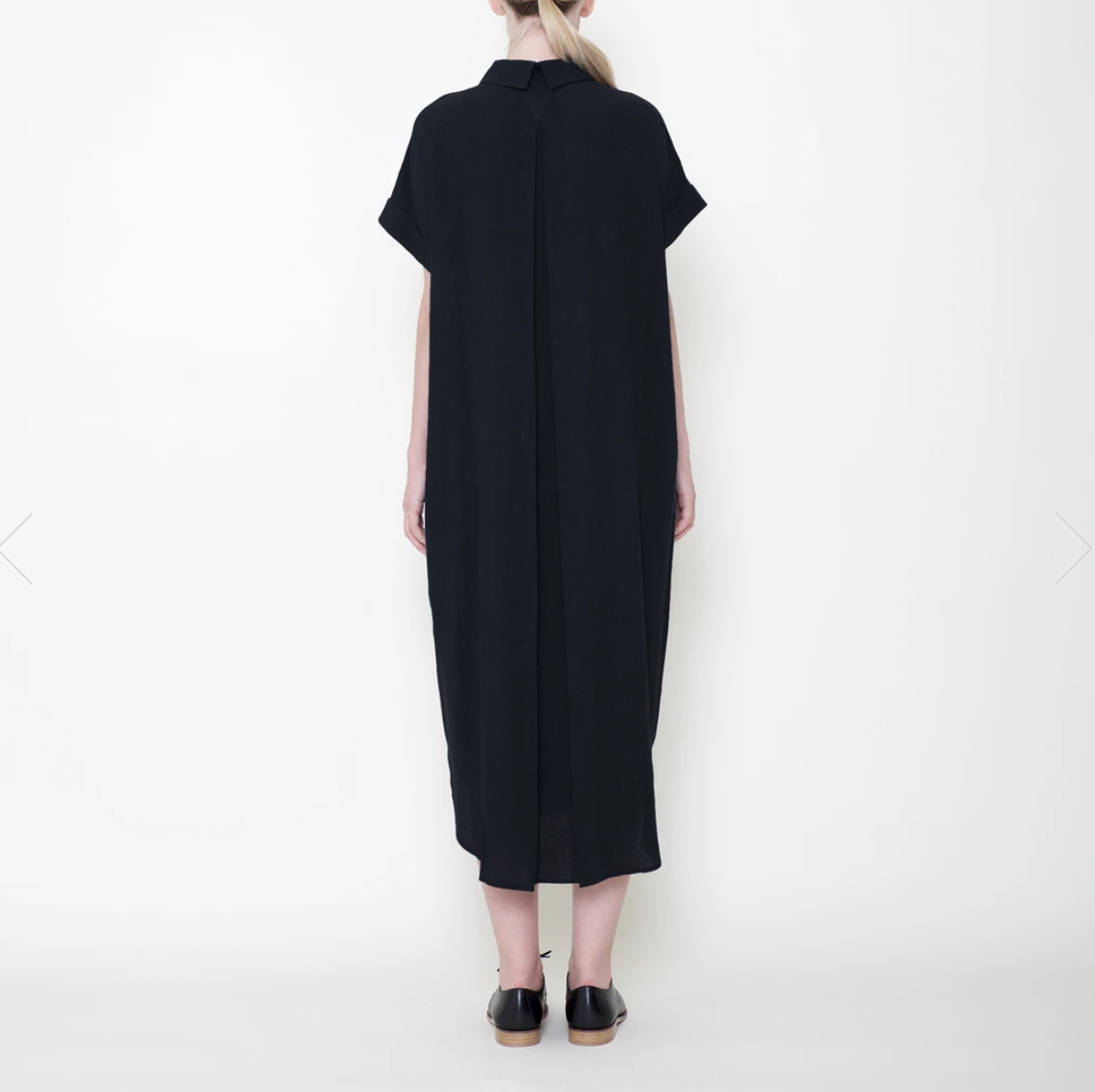 7115 by SZEKI Signature Shirt Maxi Dress, Black