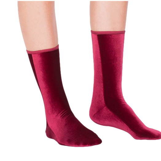 Wild Knottings Velvet Socks Wine