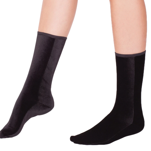 Wild Knottings Velvet Socks Black