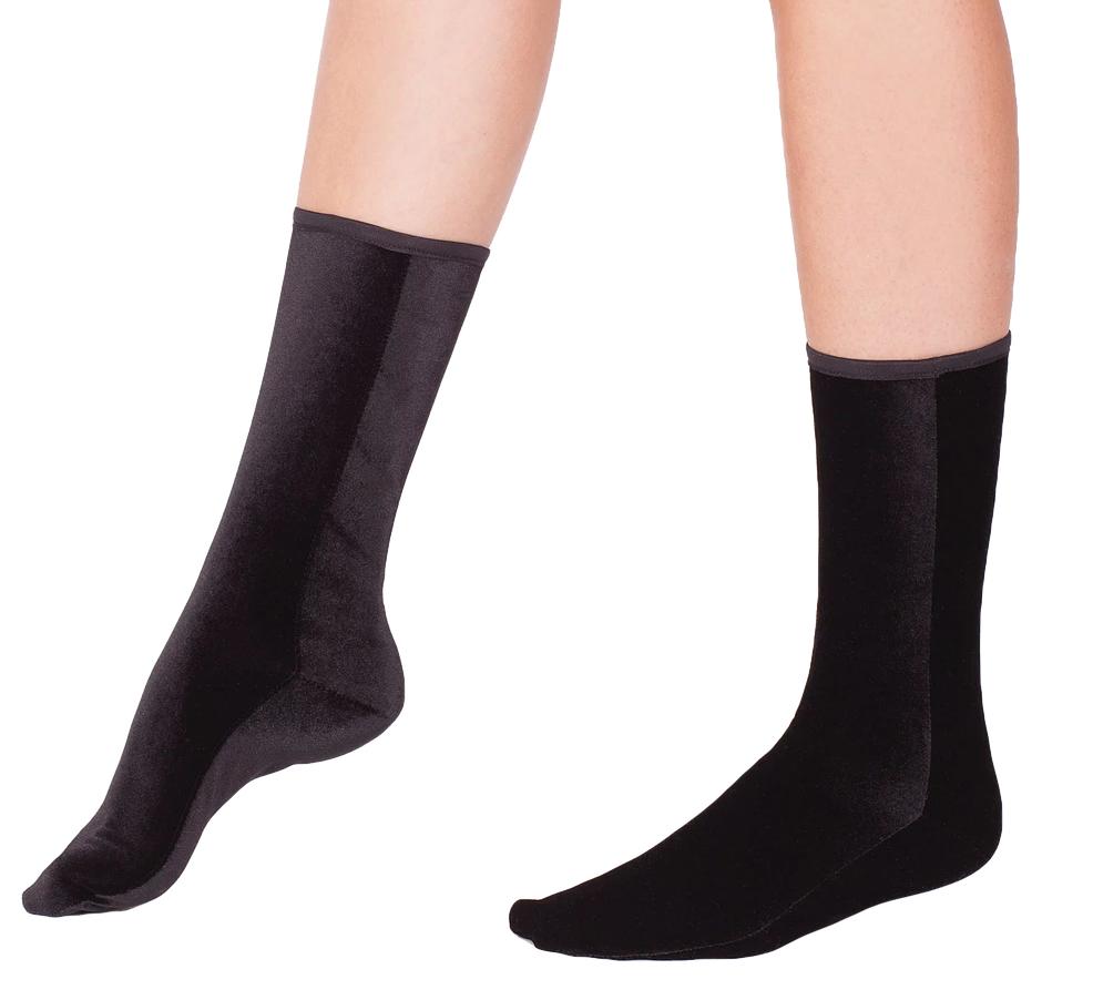 Wild Knottings Velvet Socks Black