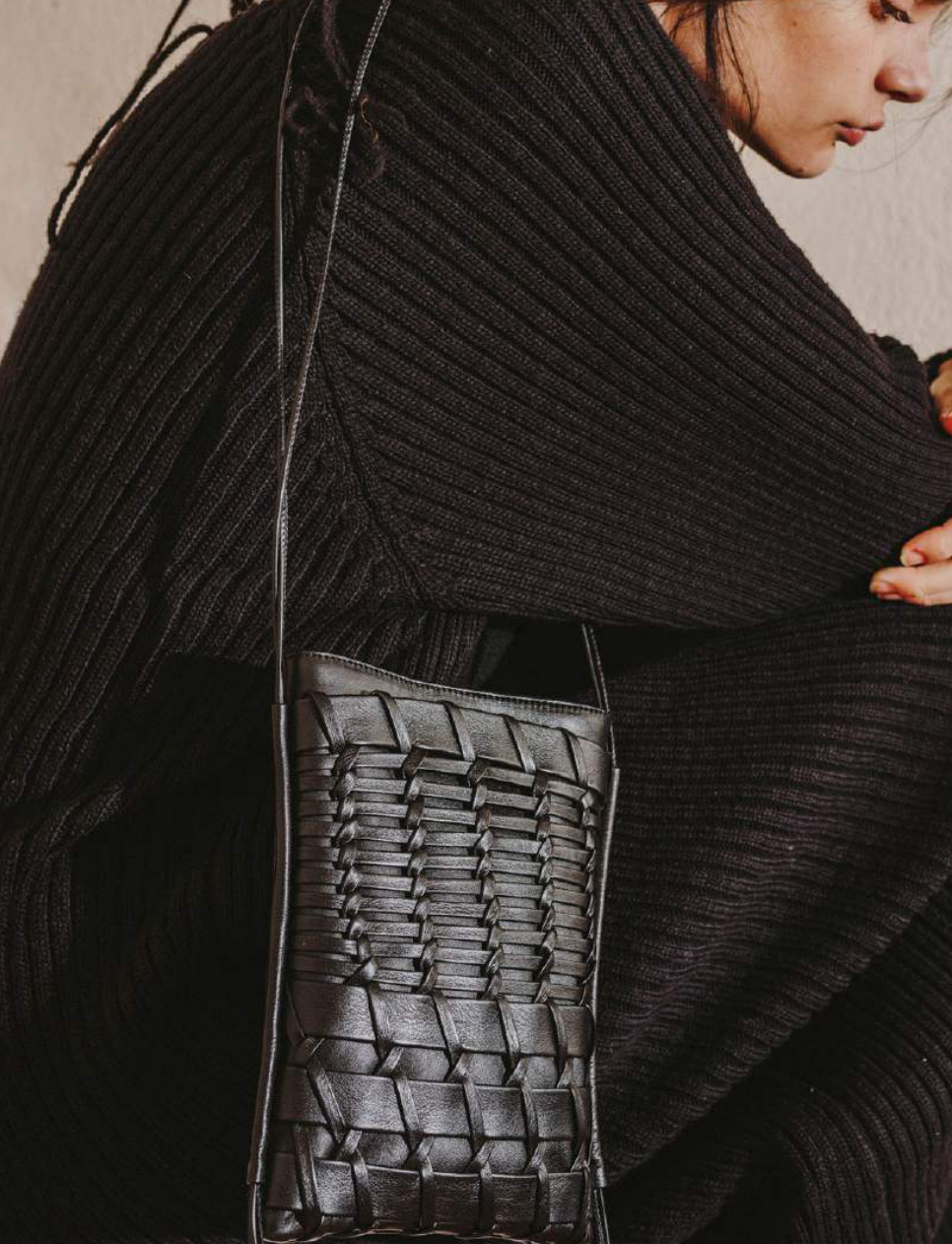 Hereu Trena, Woven Leather Crossbody