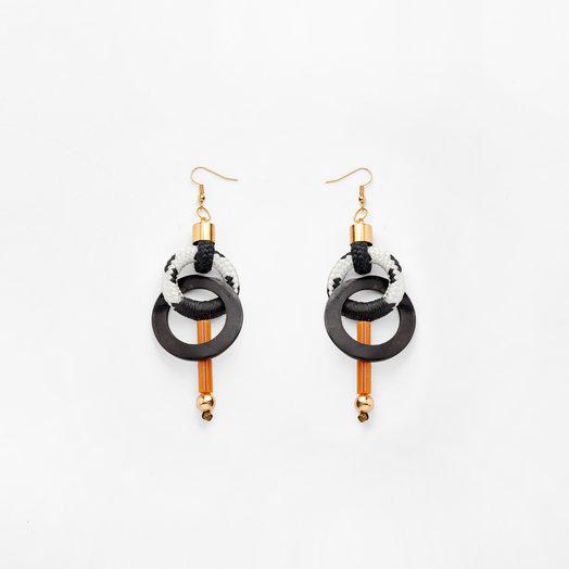 Pichulik Bossa Nova Earrings White/Black Dynamic