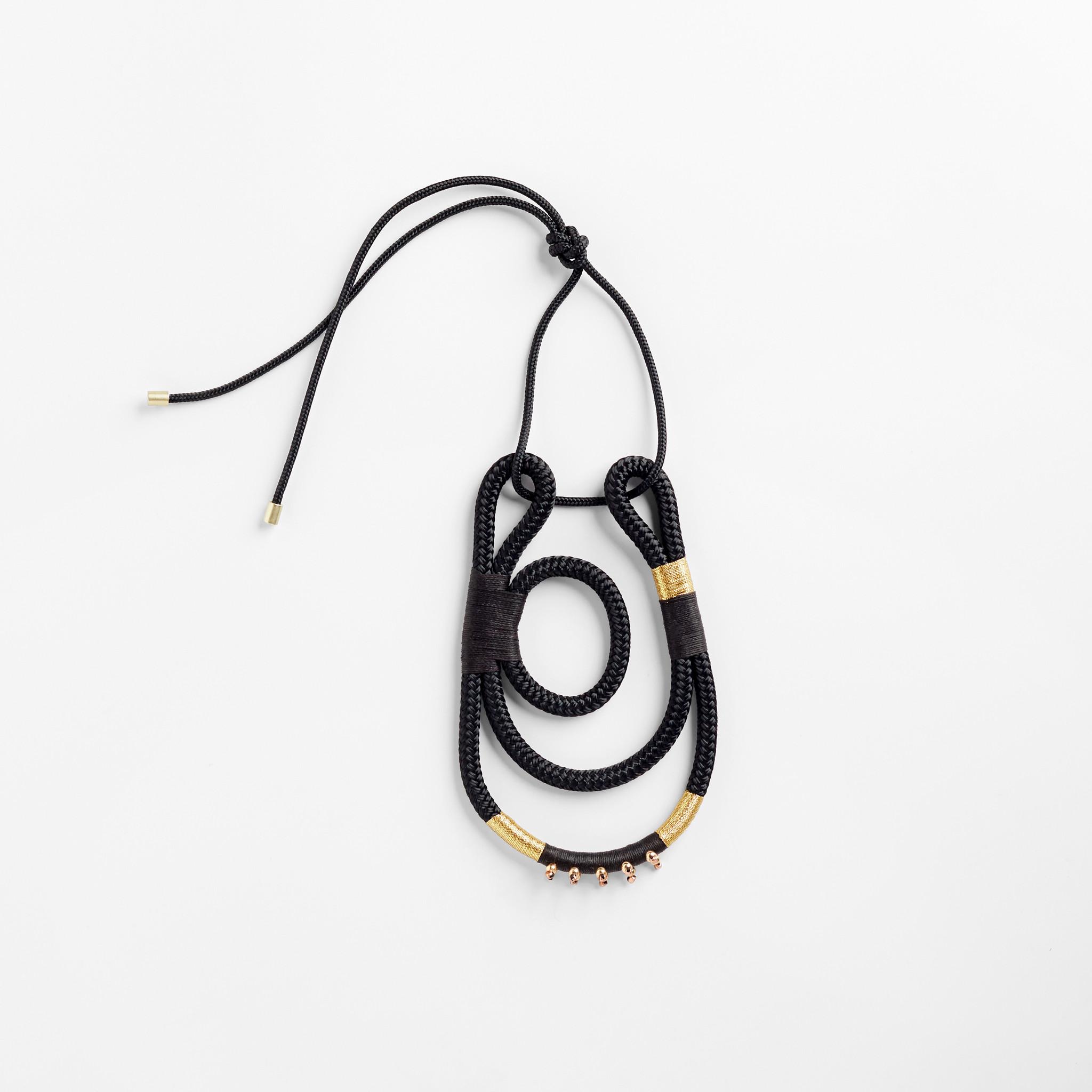 Pichulik Geisha Curve Necklace Black Gold