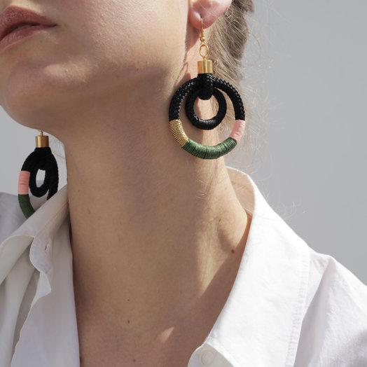 Pichulik Lunar Eclipse Earrings Black
