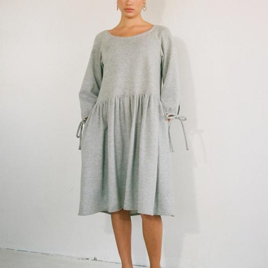 Eliza Faulkner Stay at Home Dress, Grey
