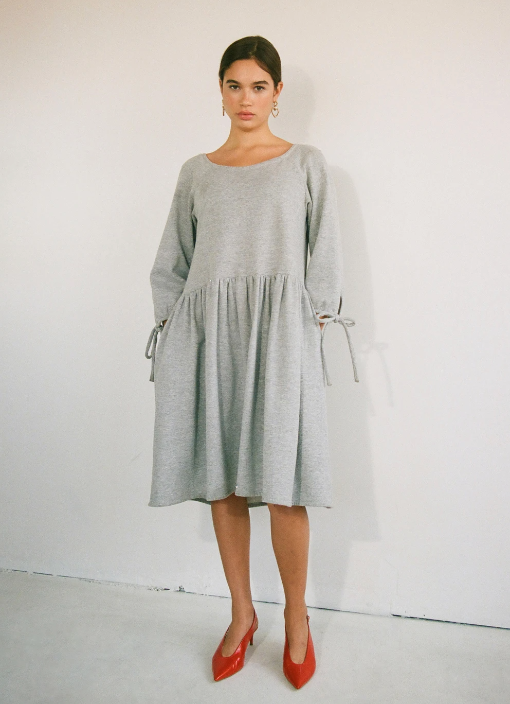 Eliza Faulkner Stay at Home Dress, Grey