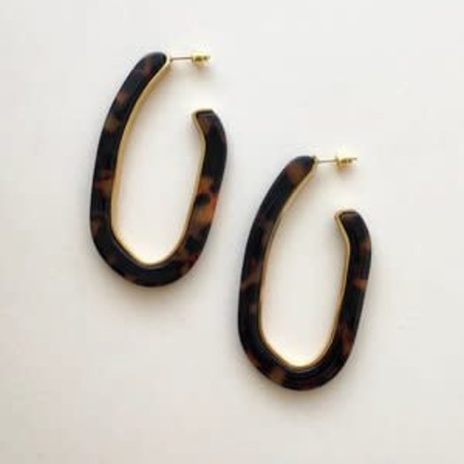 Machete Margot Lux Hoops in Tortoise