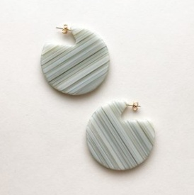 Machete Clare Earrings in Vert Stripe