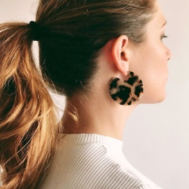 Machete Clare Earrings in Blonde Tortoiseshell