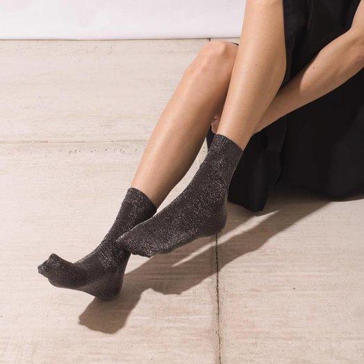 The Great Eros Black Lurex Socks, OSFA