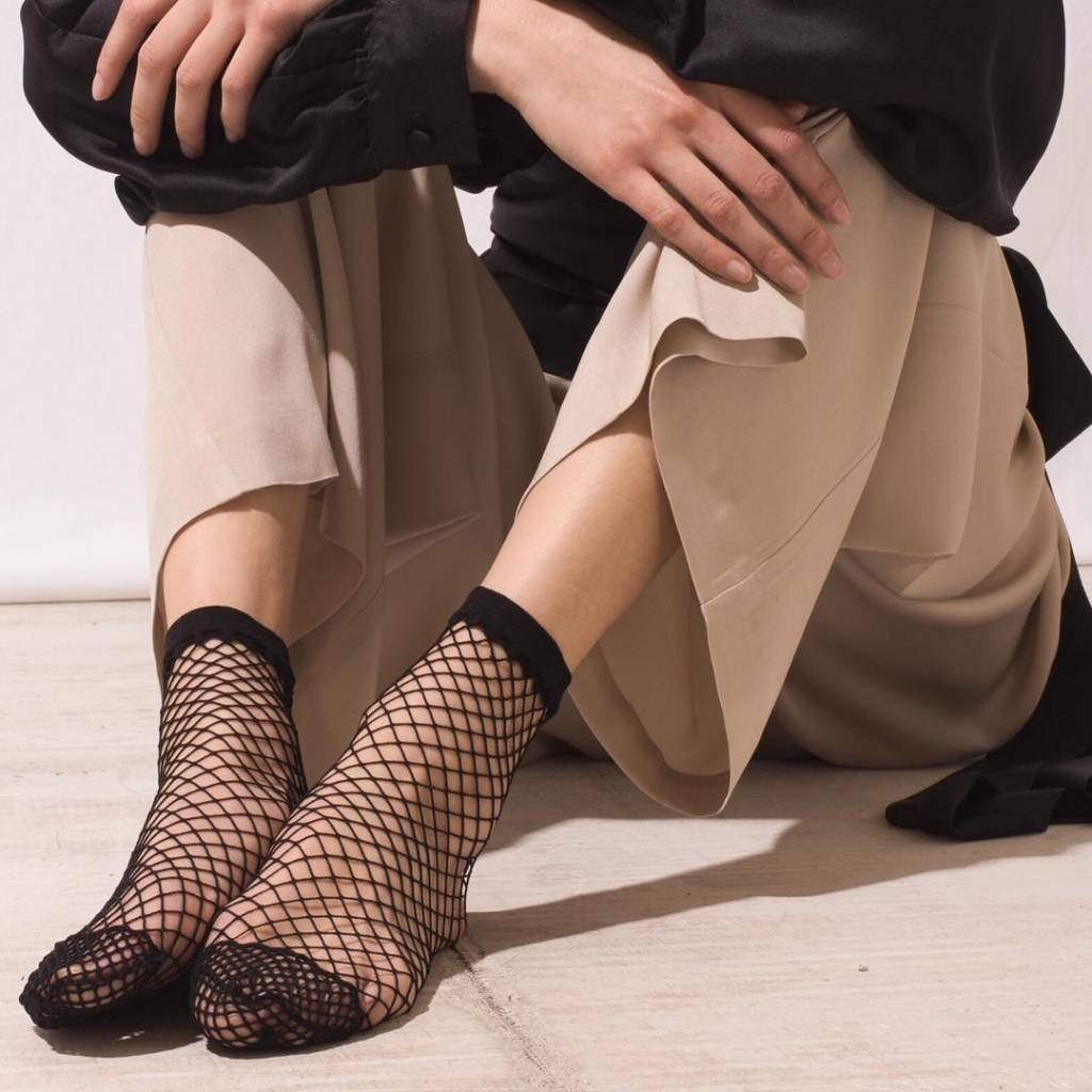 The Great Eros Fishnet Socks Black