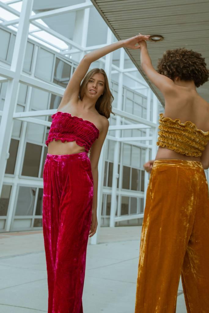 100% Silk Velvet Pants