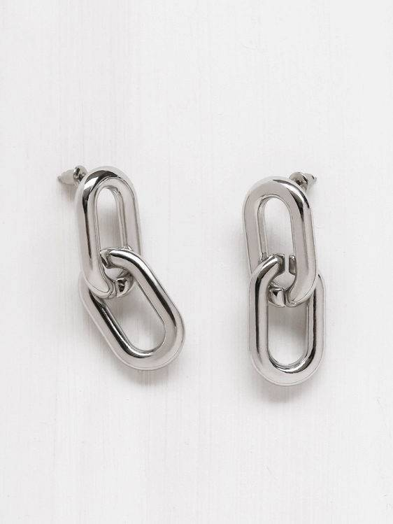 Common Muse Greta Chain Earrings, Silver