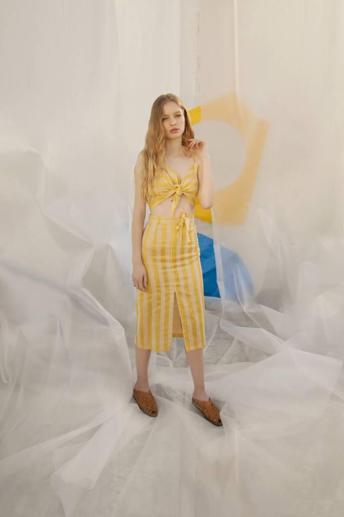 Tach Miro Skirt Yellow Stripes