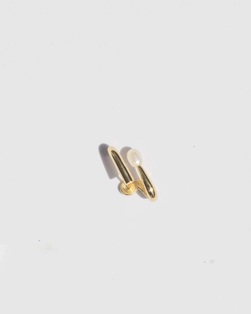 Knobbly Studio Coil Gold Plated Earrings