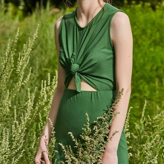 Eve Gravel Wildflower Dress, Green