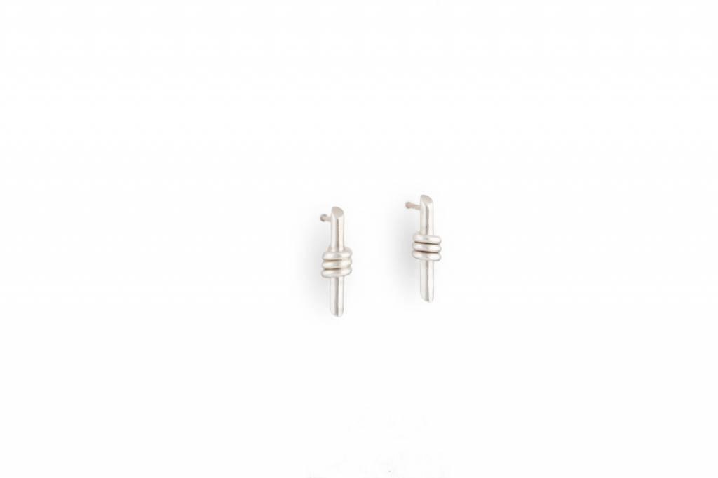 TUZA Serene Wrap Stud Earrings, Sterling Silver