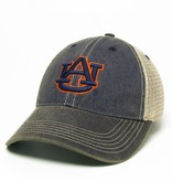 Classic AU on Vintage Navy Front with Tea Stain Mesh