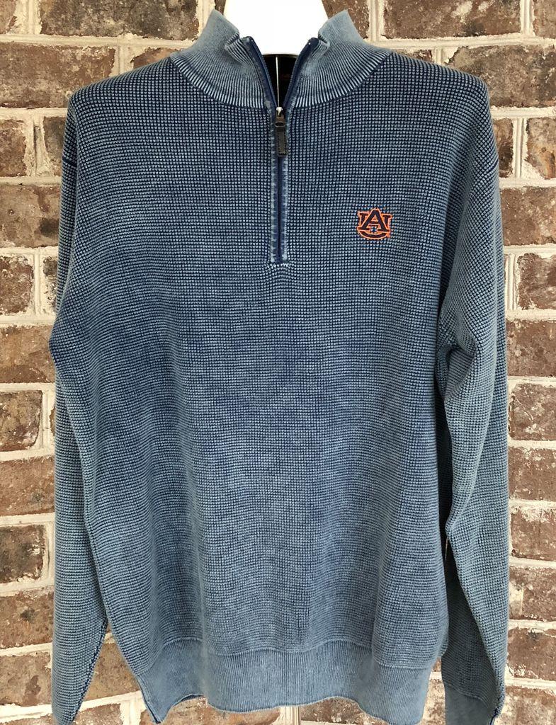 Divots AU 1/2 Zip Distressed Pullover