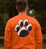 MV Sport Tiger Paw Block Auburn Long Sleeve T-Shirt